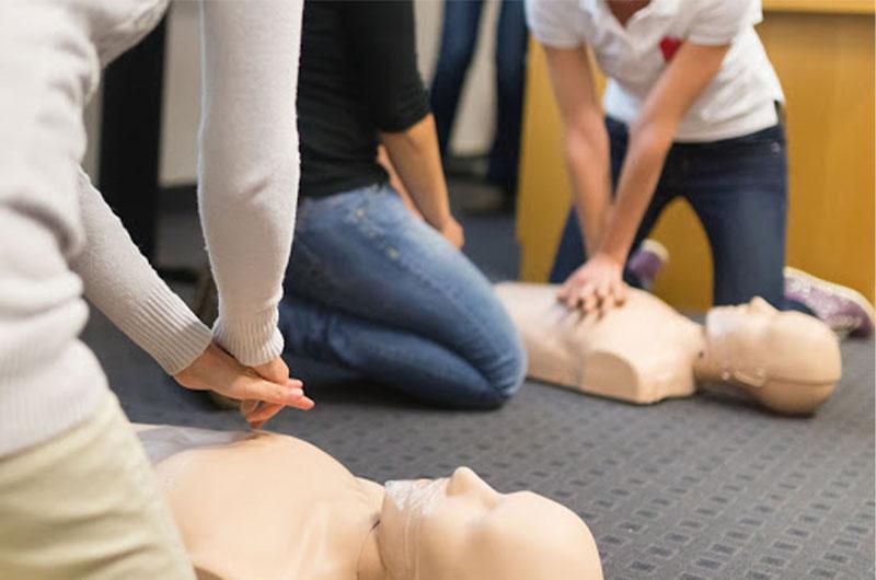 Intense Adventure First Aid Training at work